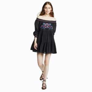 Free People Sun Beams Embroidered Off-The-Shoulder